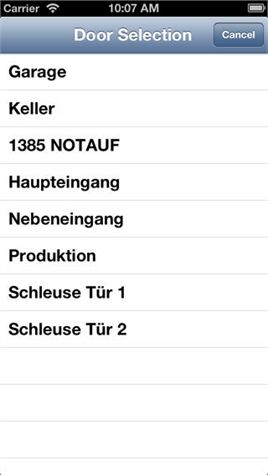 TSBC Control iOS App Abb.1 (iPhone)